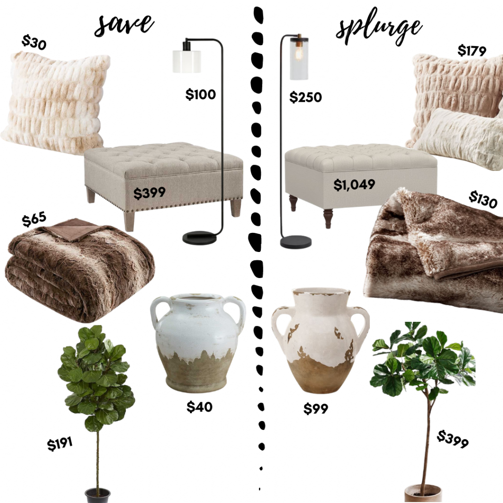 Save vs Splurge Home Edition